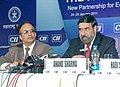 "Anand Sharma addressing the press after inaugurating the Partnership Summit 2011 on ""New Partnership for Economics Resurgence The Global Imperative"", in Mumbai on January 24, 2011.jpg"