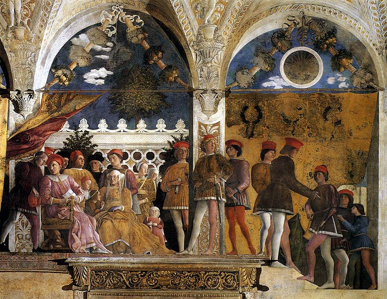 File:Andrea Mantegna - The Court of Gonzaga - WGA14000.jpg