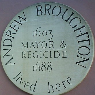 Andrew Broughton - Plaque commemorating Broughton on the house in which he lived in Earl Street, Maidstone, Kent
