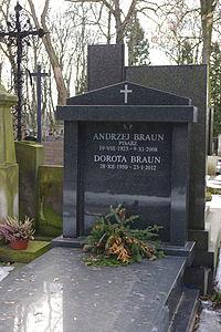 Andrzej Braun (grób).JPG