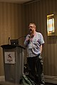Andy Mabbett moderating a roundtable about the coexistence of Wikispecies and Wikidata 02.jpg