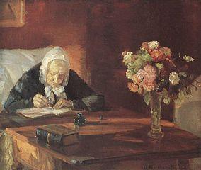 Ane Hedvig Brøndum sidder ved bordet