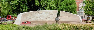 Animals in War Memorial - Image: Animals in War Memorial, Hyde Park, London