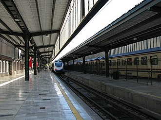 High-speed rail in Turkey - A TCDD HT65000 at the Ankara Central Station