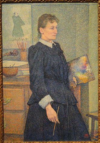 Anna Boch - Anna Boch, c. 1889, by Théo van Rysselberghe