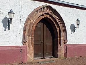 Seelitz - Image: Annenkirche Seelitz Tür
