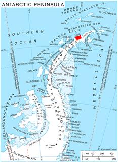 Havilland Point promontory in Antarctica