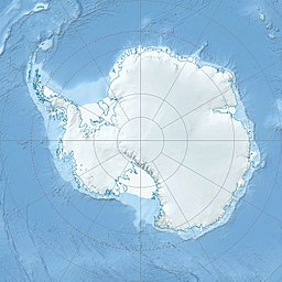 Map of Antarctica showing location of Mount Erebus