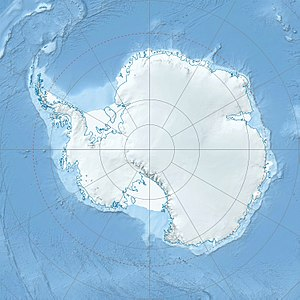 Location of Fossil Bluff in Antarctica