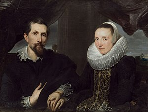 Frans Snyders - Frans Snyders and his wife, by Anthony van Dyck