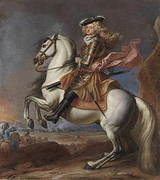 Johann Wilhelm, Elector Palatine - Equestrian portrait of Johann Wilhelm by Anthoni Schoonjans, 1702