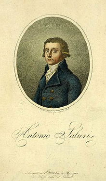 Salieri um 1785 (Kolorierter Druck, 1802) (Quelle: Wikimedia)