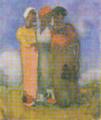 AokiShigeru-1904-People Standing on a Hill.png