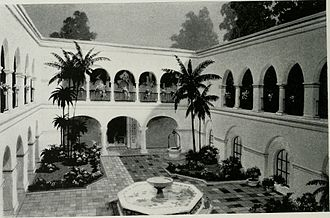 House of Hospitality (Balboa Park) - Patio, House of Hospitality, California Pacific International Exposition, San Diego (1934)