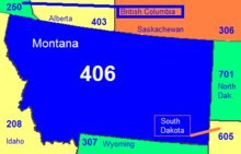 Area Code 406 Wikipedia