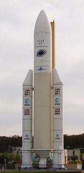 Mockup del razzo Ariane 5 alla Cité de l'espace di Tolosa