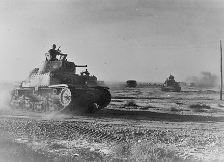 Ariete tanks on the move during the battle Ariete tank division on the attack.jpg