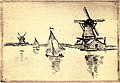 Armand Guillaumin - Les Moulins a Vent Sur Le Canal en Hollande. 1922.jpg