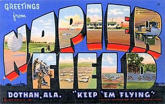 Dothan Regional Airport - World War II Napier Field postcard
