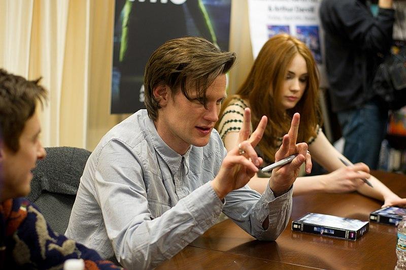 800px Arthur Darvill2C Matt Smith2C Karen Gillan at Doctor Who BBCAmerica Signing