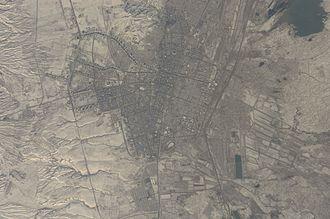 Ashgabat - Satellite view of Ashgabat