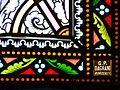 Assais-les-Jumeaux église Jumeaux vitraux choeur signature.JPG