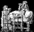 Assyriska möbler, kung Asarhaddons fest, Nordisk familjebok.png