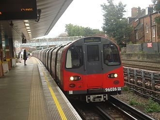 Jubilee line - Jubilee line train at West Hampstead.