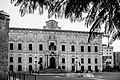 Auberge de Castille in black and white.jpg