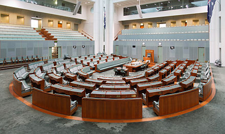 The Australian House of Representatives chamber Australian House of Representatives - Parliament of Australia.jpg
