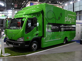Smith Electric Vehicles - Smith Newton electric truck at the Autotec exhibition in the Brno Exhibition Centre in 2010