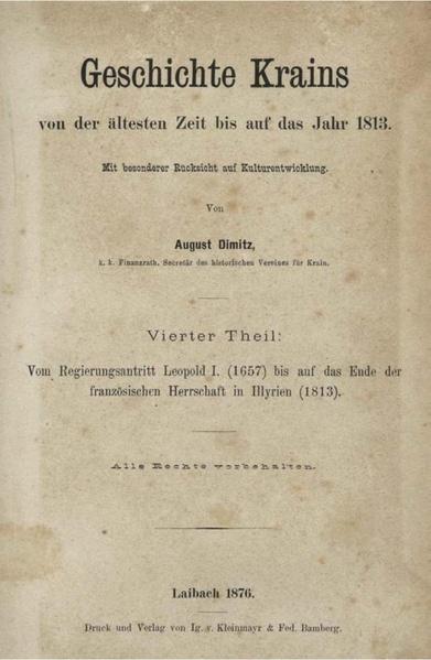 File:Avgust Dimitz - Geschichte Krains von der ältesten Zeit bis auf das Jahr 1813 mit besonderer Rücksicht auf Kulturentwicklung - book 4.pdf