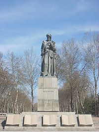 Avicenna monument in Dushanbe
