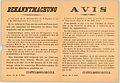 Avis. L'attention de la population est attirée de nouveau sur l'ordonnance de l'Inspection des Étapes du 18 Mai 1915, disant- Il est défendu, le jour et la nuit, d'allumer ou d'entretenir un feu (12504015993).jpg