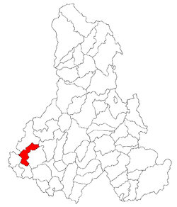 Location of Avrămeşti