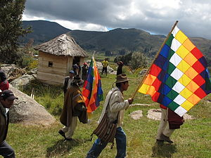 Indigenous peoples in Bolivia - Image: Aymara ceremony copacabana 1