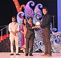 B, Vijayan presenting the Best Director award to Nadav Lapid for the film 'The Kindergarten Teacher', at the closing ceremony of the 45th International Film Festival of India (IFFI-2014), in Panaji, Goa on November 30, 2014.jpg