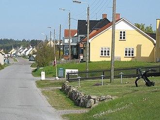 Bønnerup Strand - The coastal road in Bønnerup Strand.