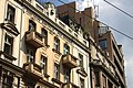 Bělehrad, fasáda domu poblíž náměstí Republiky (trg Republike).jpg