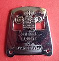 BADGE - Canada - BC - Vancouver County Sheriff (defunct 1974) oblong (7945904164).jpg