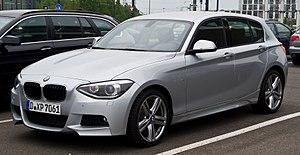 BMW 1 Series (F20) - Image: BMW 118d M Sportpaket (F20) – Frontansicht, 21. April 2014, Düsseldorf
