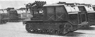 BM-24 - BM-24T on a AT-S tractor chassis.