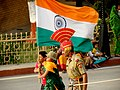 BSF and flag runnig, Wagah Border.jpg