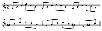 Arpeggio - Image: Bach Arpeggio from Jesu, Joy of Man's Desiring