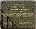 Bakos Lajos plaque (Balassagyarmat Hunyadi u 24).jpg