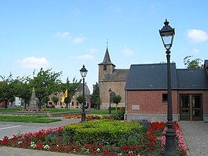 Balâtre, Belgium - The church on Place de Balâtre