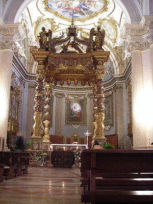 Foligno Cathedral - Baldacchino over altar.