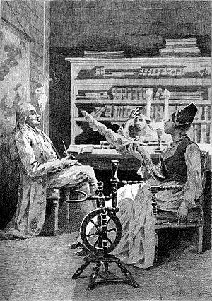 Séraphîta - Illustration from Séraphîta by Édouard Toudouze.