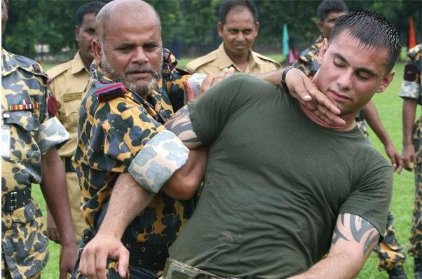 Bangladeshi Rifles training