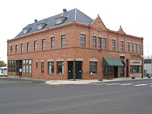 National Register of Historic Places listings in Lincoln County, Washington - Image: Bank block 1904